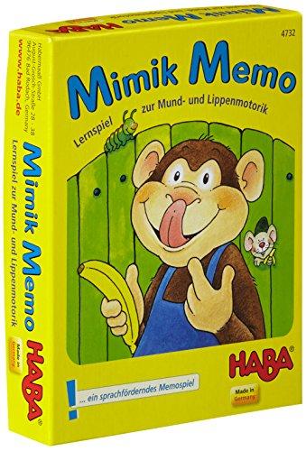 Lernspiel zur Lippenmotorik für Kinder Mimik Memo von Haba